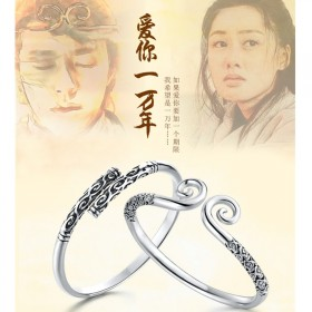 S925纯银紧箍咒金箍棒手镯附证书送同款戒指