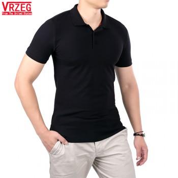 保罗短袖POLO衫T恤翻领男装夏季新款纯色纯棉修身
