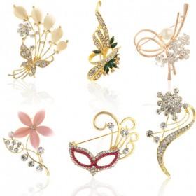 韩版胸针胸花配饰品 奢华水晶大别针领针