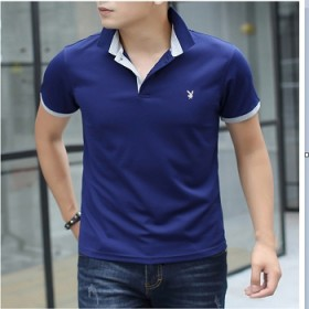 男士短袖t恤韩版修身翻领POLO打底衫半袖潮流男装