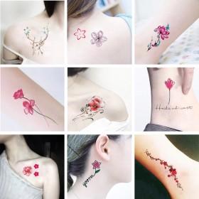 纹身贴防水男女持久韩国仿真小清新可爱英文字母纹身贴