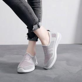 女鞋老北京新针织网布鞋透气网面鞋时尚休闲运动鞋舒适