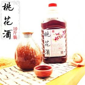 桃花酒桃花醉桃花酿12度10斤桶装低度自酿花果酒