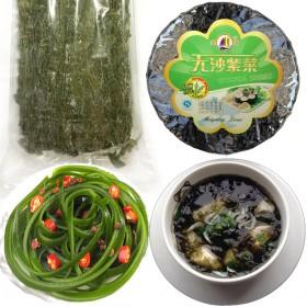 【套餐】150g盐干海带丝40克无沙免洗紫菜