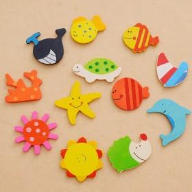 创意可爱卡通动物木质冰箱贴 磁力贴 吸铁石贴磁贴幼