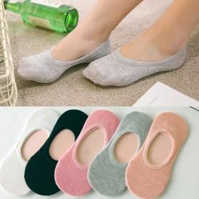 【拍10双】夏季袜子薄款纯棉女袜硅胶隐形船袜 直供