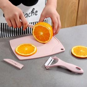 【三件套】陶瓷刀刮皮刀迷你菜板组合削果皮刀家用便携