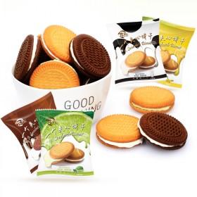 水果夹心饼干2斤奶油巧克力4口味果酱零食早餐糕点下