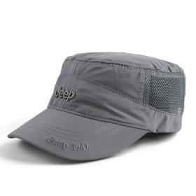 JEEP吉普帽子男士速干帽春夏季网眼遮阳帽平顶帽