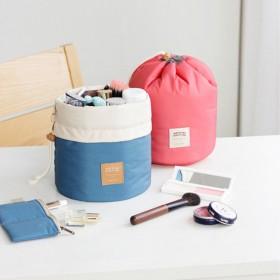 韩版化妆包小号便携化妆品圆形收纳包大容量旅行收纳袋