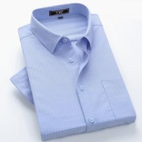 花花公子衬衫男短袖夏季商务休闲职业正装工装短袖纯色