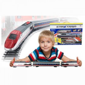 和谐号小火车儿童玩具轨道车电动火车轨道带灯光音乐