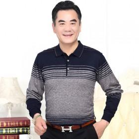 京东秋季横条纹长袖T恤