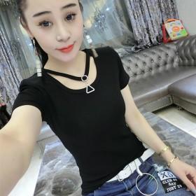 女Tt恤新款短袖新款2018上衣修身潮韩版春夏季