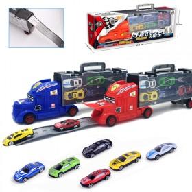 合金货柜车汽车模型工程消防儿童玩具车收纳盒男孩玩具