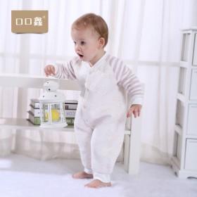 婴幼儿秋冬连体衣纯棉加厚哈衣爬服