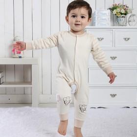 婴儿连体衣春秋长袖爬服纯棉0-2男女宝宝连身衣