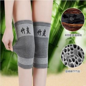 夏季空调房护膝男女通用竹炭护膝套女士运动老人关节