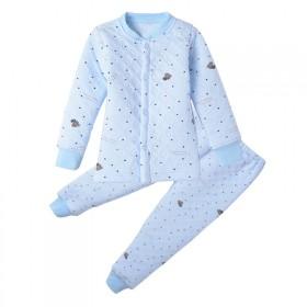 儿童保暖内衣套装0-3岁男女宝宝秋冬衣服