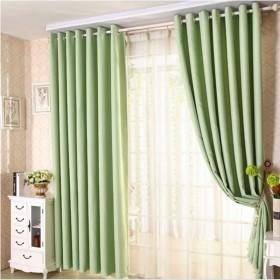 全遮光窗帘纯色布黑色加厚成品不透光挡防晒隔热卧室