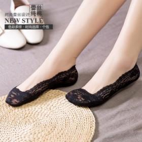 春夏新品蕾丝船袜女袜隐形袜女士袜子5双颜色可以备注