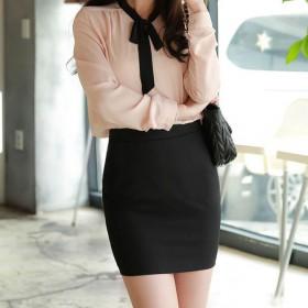新款韩版包臀裙修身弹力半身裹裙