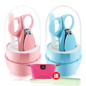【送发光耳勺】婴儿指甲剪5件套装新生儿防夹肉指甲钳