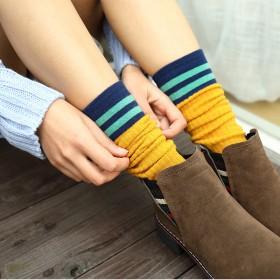 堆堆袜女秋冬季中筒袜韩国学院风日系韩版纯棉长筒袜