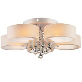 客厅灯圆形水晶灯吸顶led卧室灯餐厅灯一灯六色