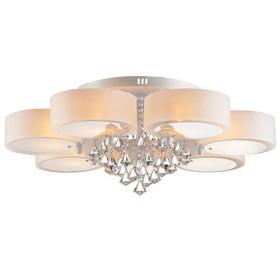 客厅灯圆形水晶灯吸顶led现代简约卧室餐厅大气家用