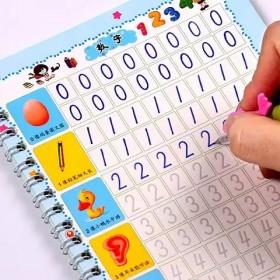3-8岁儿童凹槽练字帖幼儿园数字拼音描红本小孩学前