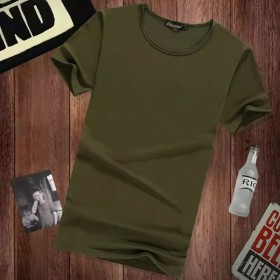 男士短袖t恤打底衫圆领纯色体恤纯白色黑色修身
