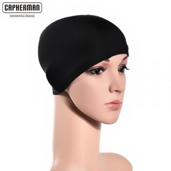 布泳帽男女通用不防水泳帽舒适