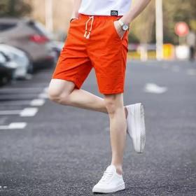男士短裤男五分裤韩版夏天休闲裤子薄沙滩裤运动中裤