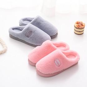 棉拖鞋女厚底冬季韩版可爱家用包跟居家室内情侣毛托鞋