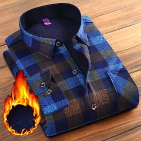 24色可选 男士保暖衬衫加绒加厚2018年新款