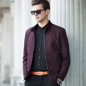 长袖立领男式夹克衫时尚休闲纯色外套