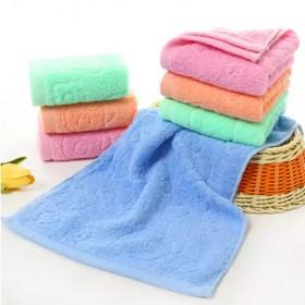 【纯棉童巾1-5条】纯棉儿童洗脸巾柔软吸水纯棉素色