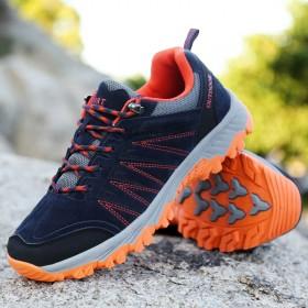 情侶款運動戶外登山鞋防滑耐磨越野徒步鞋休閑運動鞋