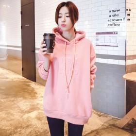 秋冬卫衣女加绒加厚2018新款宽松薄长袖韩版