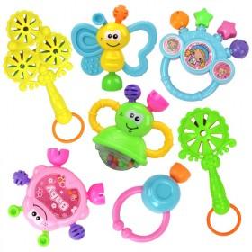 【包邮】手摇铃婴儿玩具0-1岁手小孩拿套装宝宝软胶