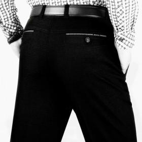 秋冬男装中老年男士高腰免烫直筒百搭休闲裤西裤长裤子