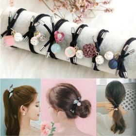 6件套 韩国头绳扎头发马尾发圈橡皮筋可爱清新发饰
