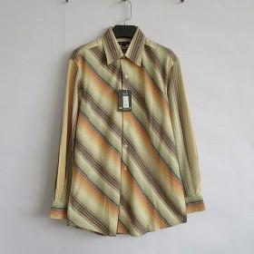 新款纯棉长袖衬衫男商务休闲品牌原单衬衣