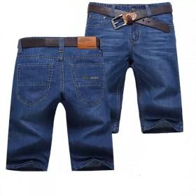 2018男士牛仔短裤直筒宽松大码牛仔裤休闲短裤