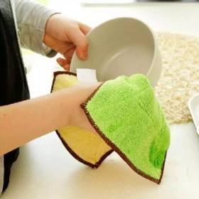 【3条装】双面加厚吸水不沾油不掉毛洗碗布抹布洁布