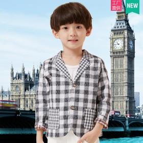 【淘宝心选】儿童棉麻小西装外套双层薄款【直供】