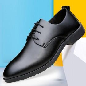 男士秋季男鞋子韩版潮流英伦百搭商务皮鞋男正装低帮鞋