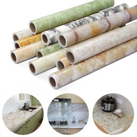 江悦大理石贴纸厨房灶台防油贴纸防水墙纸自粘壁纸橱柜