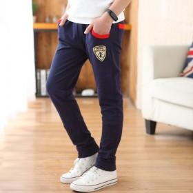 童装儿童运动长裤子韩版童裤潮范贴标修身男童休闲裤